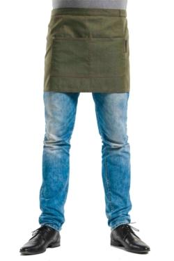 Davantal denim de cotó sense peto amb llaç addicional a la cinta