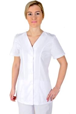 Blusón blanco manga corta con cierres