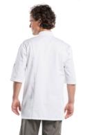 Jaqueta de Cuina Chaud Devant Bacio Blanca amb Tancaments