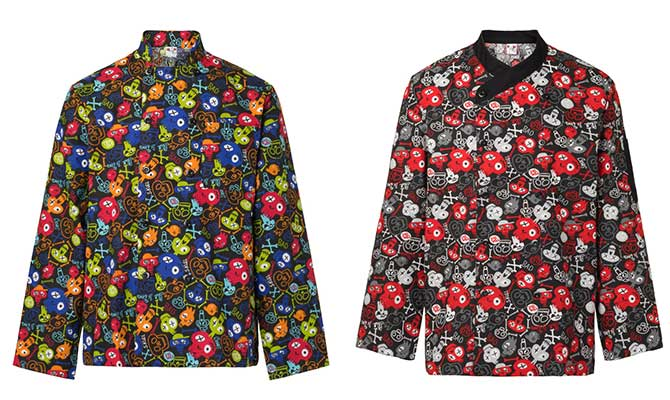 Estampado calaveras chaquetas cocina originales for Chaquetas de cocina originales