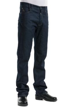 pantaló texà elàstic d'home amb passadors per cinturó