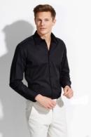 Camisa home negre 17000 Brighton tall ajustat i elàstica.
