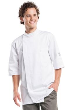 Jaqueta de Cuina Chaud Devant Bacio Blanca amb Butxaca