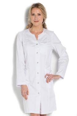Bata Dyneke manga larga blanca