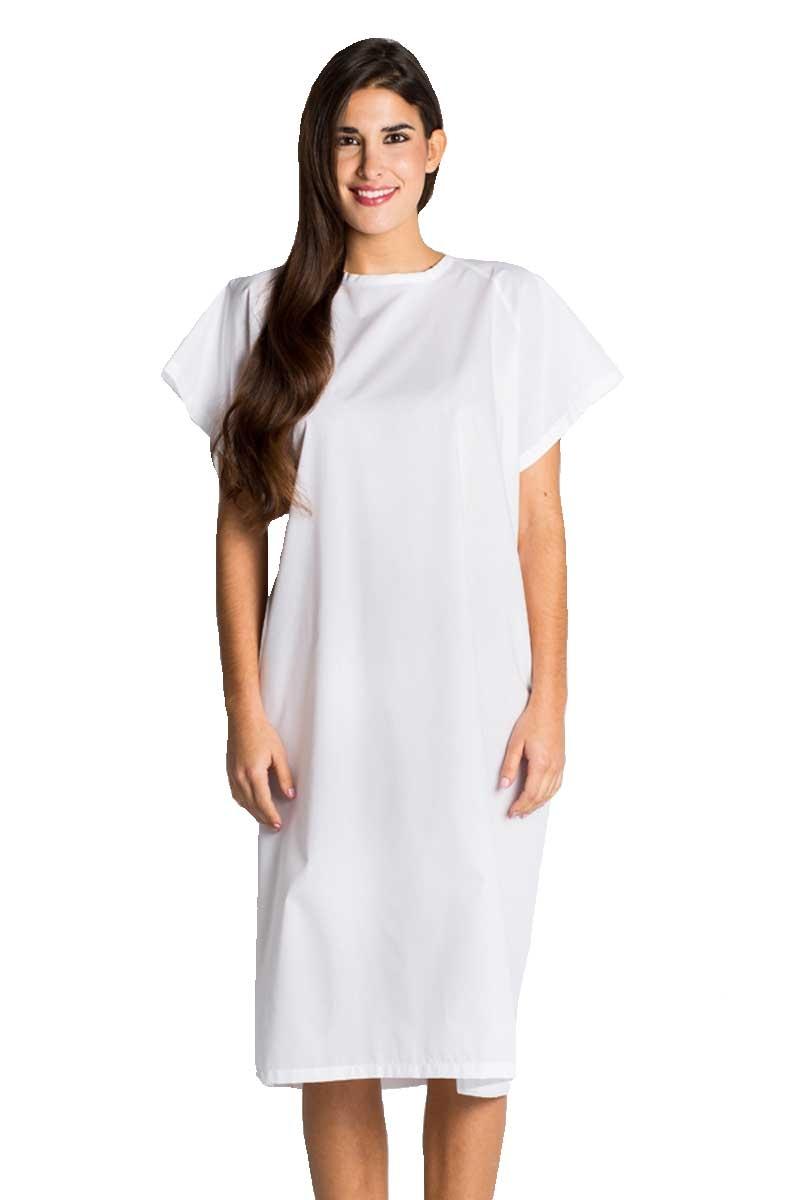 e52942788 Bata blanca para paciente de hospital