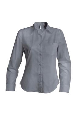 blusa de trabajo oxford manga larga