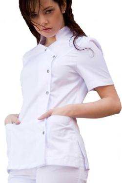 Blusón blanco Norvil manga corta con cierres