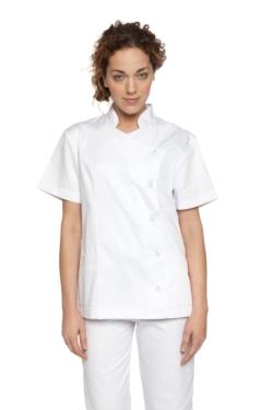 Blusó Artel blanc amb botó folrat