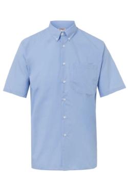camisa de hombre artel celeste manga corta