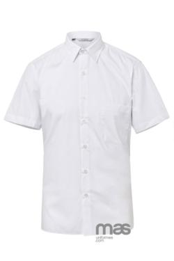 Camisa Norvil de hombre manga corta blanca