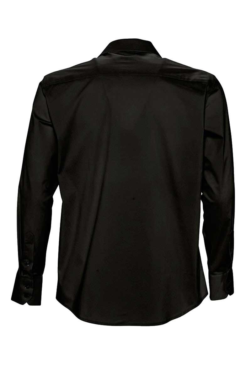 2fcae0fed6cf2 Camisa hombre negra 17000 Brighton corte ajustado y elástica