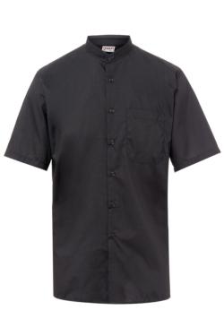 Camisa d'home Artel negra de Coll Mao i màniga llarga