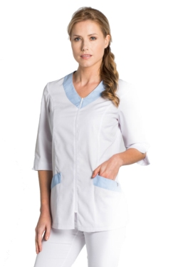 blusons per treballar de dyneke blanc i blau