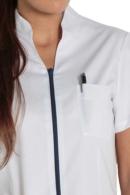 casaca sanitaria cuello mao
