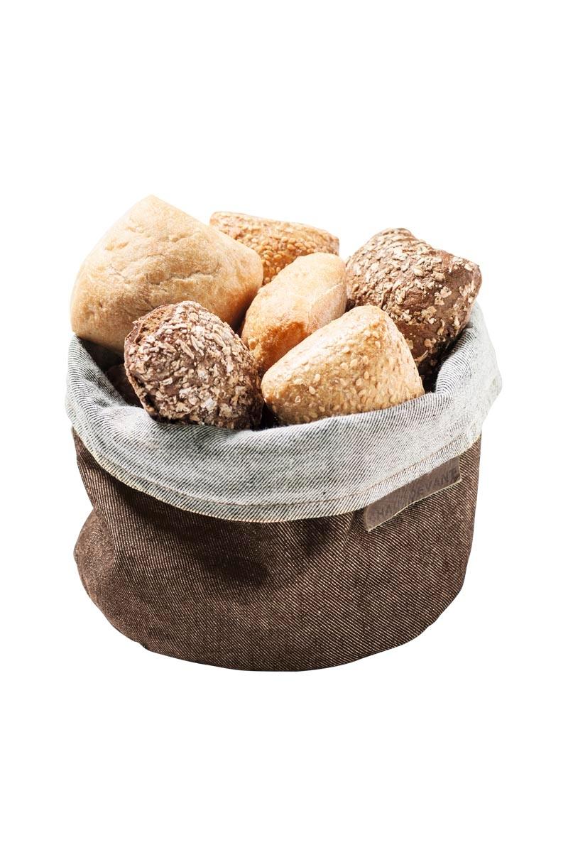 6ba255af7dd Cesta de pan en tejido vaquero beige