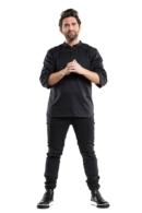 Jaqueta de Xef negra Bujutsu
