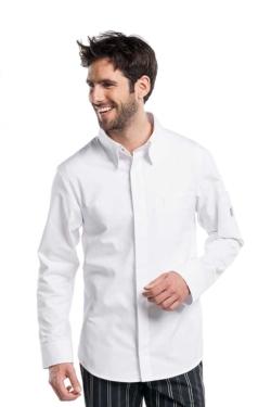 Jaqueta d'hosteleria blanca elegant fabricada en teixit molt fi i fresc