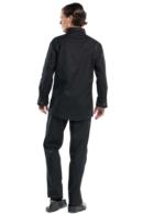 chaqueta de cocina negra