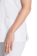casaca sanitaria blanca