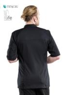 chaqueta de cocina negra salerno sfx