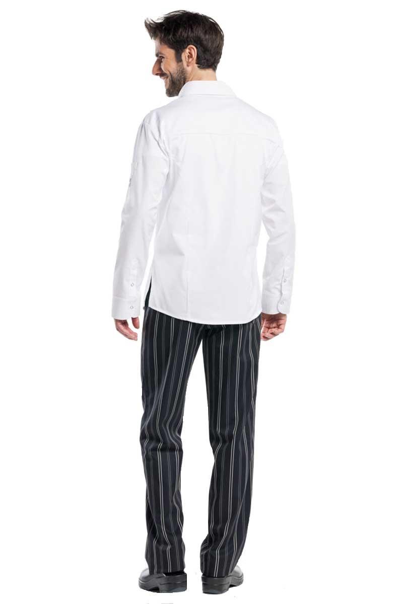 Chaquetilla blanca cuello tipo camisa chaquetas de cocina for Chaquetas de cocina originales