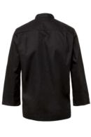 Chaqueta de cocina Artel negra corte camisero