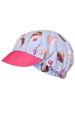 Gorra regulable estampado original Cupcakes con visera color rosa