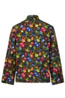 Jaqueta de cuiner de calaveres multicolor