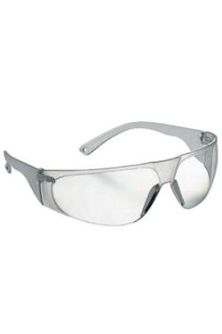 Gafas transparentes con protecciones laterales y filtros oculares