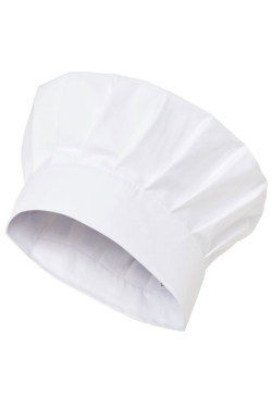 Gorro de Chef tipo seta Artel en color blanco con trincha lisa y se ajusta mediante velcro