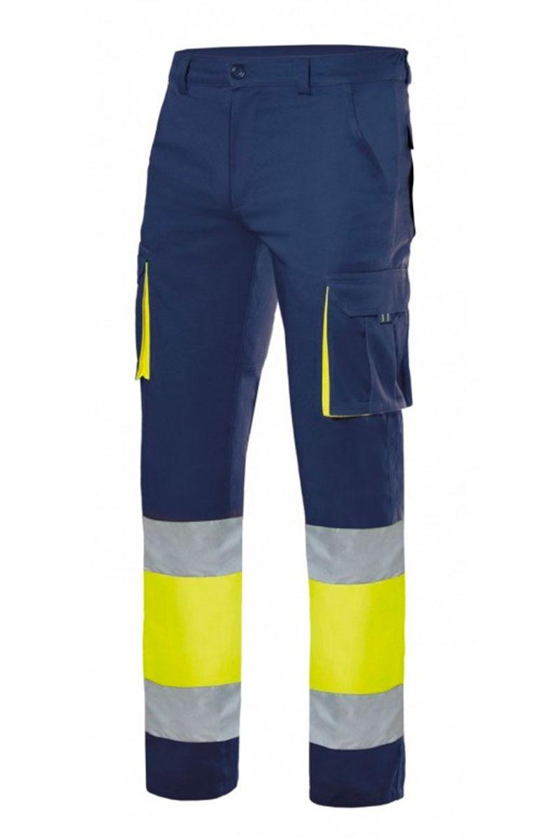 d1f28adf70 Pantalón multibolsillos elástico bicolor alta visibilidad