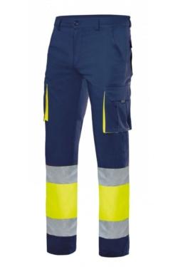 Pantaló de treball d'alta visibilitat fabricat en teixit strech amb múltiples butxaques