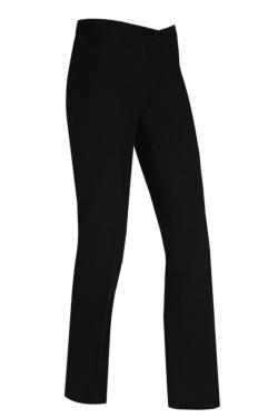 Pantalón de mujer para camarera negro sin bolsillos, modelo estrecho de pierna
