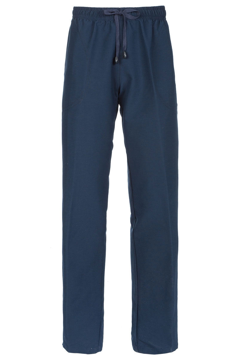 5aa62b91a5c Pantalón sanitario de mujer azul marino con goma y cordón