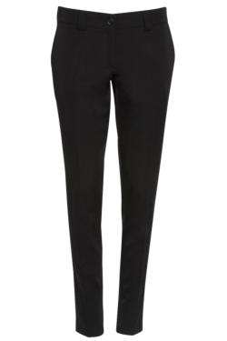 Pantalón de mujer de corte moderno, elástico, con bolsillos y pasadores para cinturón
