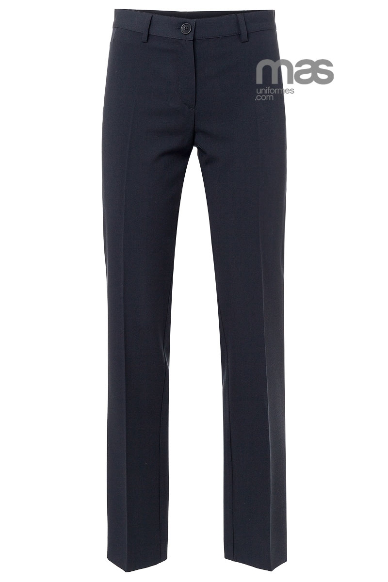 Pantalon Norvil Sin Bolsillos Entallado Pantalones De Mujer