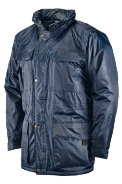 Parka de trabajo impermeable con forro acolchado ideal para el frío y la lluvia