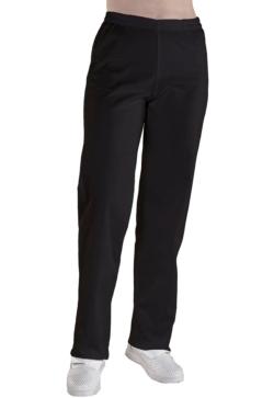 pantalon microfibra en negro goma cintura
