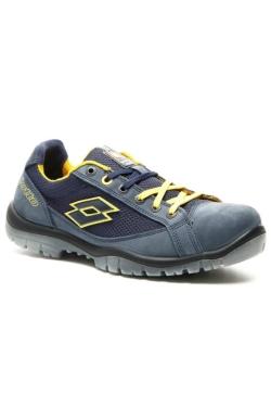 zapatos azules y amarillos de seguridad lotto