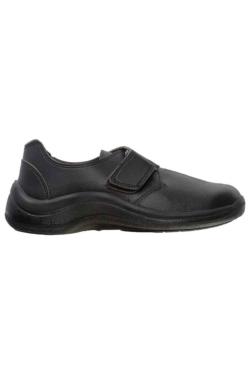 zapato de seguridad que facilita el apoyo del pie y permite un reparto equilibrado del peso del cuerpo