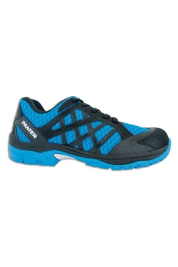 Zapato Panter de seguridad tipo deportivo en color azul. Disponible en más colores. Es hidrófugo, transpirable y muy ligero
