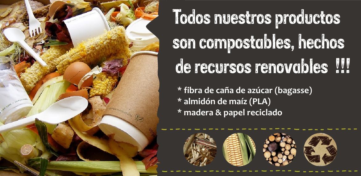 Productos compostables