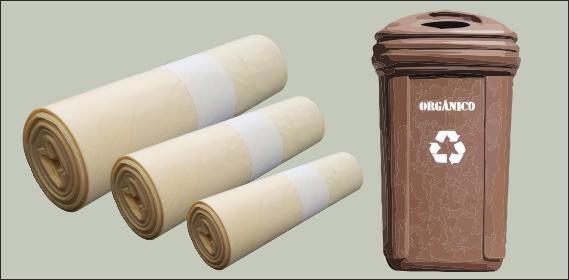 Bolsas contenedor orgánico