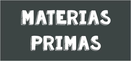 Materias primas