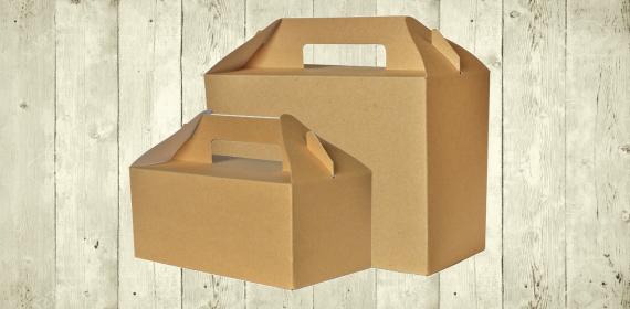 Cajas de cartón con asa