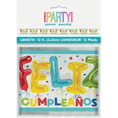 Pancartas Feliz Cumpleaños, Pack 4 u.