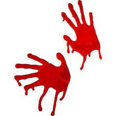 Gel para cristales manos ensangrentadas Halloween