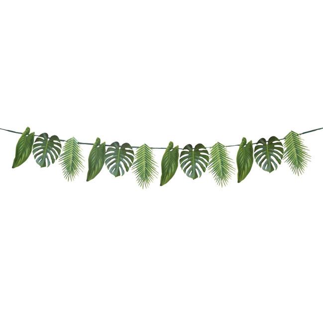 Guirnalda hojas de palmera de papel cartón