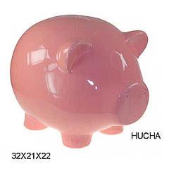 Hucha cerdo cerámica rosa