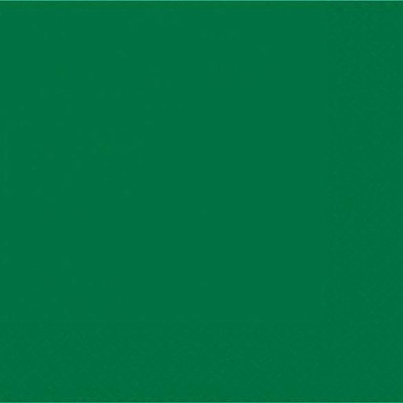 Servilletas lisas verdes 33 x 33 cm, Pack 20 u.